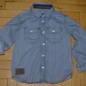Очень модная фирменная рубашка для мальчика 3 - 4 года рост 98 см