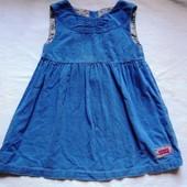 Фирменное платье на 2-3 года микровельвет