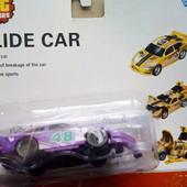 Машинка Краш - тест фиолетовая черная желтая от  Big Motors авария Краш-тест