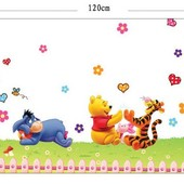 Интерьерная наклейка на стену Винни Пух и друзья 90х120см (mAY992)