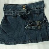 Фирменная джинсовая юбка размер S