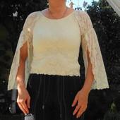 Романтичная кружевная блузка из нейлона.