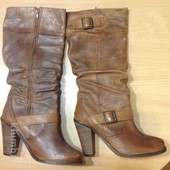 Новые кожаные деми сапоги английского бренда New Look на р.37-37,5 по стельке 24,5 см