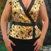 BcBGMaxazria шикарная атласная блуза. размер: 36 / 8 / S