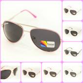 Очки детские polarized 13см- розовая, оранжевая, красная, белая, коричневая, белая с черным - 1шт