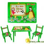"""Детский столик и стульчики """"Маша и Мишка"""""""