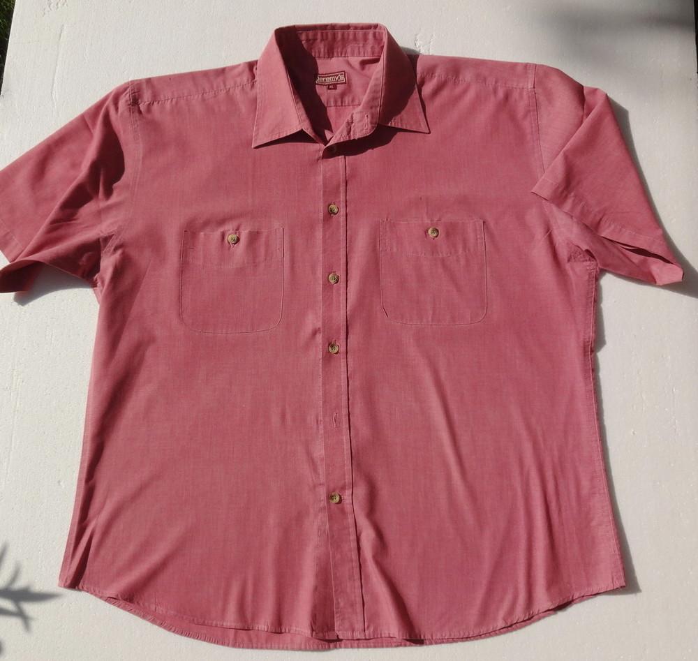 JeremiS. Мужская рубашка с коротким рукавом. ворот 42 см фото №1