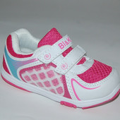 BI&KI арт. 4757G бело-малин  кроссовки для девочек.