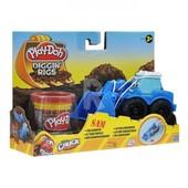 Плей До Лепка машинки для строительства дорог Play Doh 49492 - синяя Hasbro плей дох
