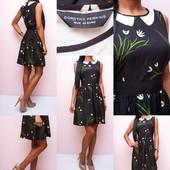 Легкое платье с имитацией воротничка