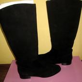 замшевые сапоги Carlo Pazolini на плотной набивной шерсти,раз 39 ,зима
