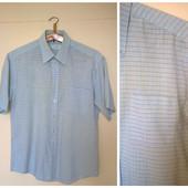 Рубашка мужская в клетку короткий рукав