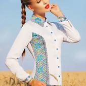 """Женская блуза """"Марта 2Н"""" узор С2 с длинным рукавом"""