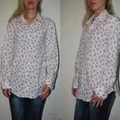 Рубашка в цветочки размер Л(42) nulu