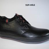 мужские зимние ботинки кожа замша Код: 320
