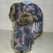 мужская шапка - ушанка