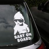 Наклейка -предупреждение  на автомобиль.