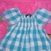 хлопковая блуза- разлетайка на 3-4 года