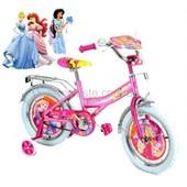Велосипед двухколесный Принцессы 141207Pr,  с зеркалом, вставки на колеса