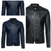 Стильная мужская стеганная эко-кожаная куртка