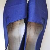 Синие эспадрильи мокасины очень мягкие Испания