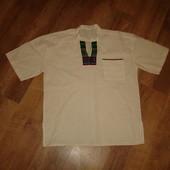 Мужская рубаха, вышиванка, р.L, сделана в Эквадоре, лен