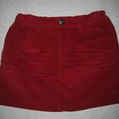 красивая вельветовая мини юбка Zara на 10-15 лет