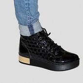молодежные кожаные ботинки  модель Б-15