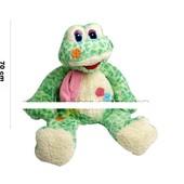 Лягушка мягк., 70 cм, сидит, зеленая пятнистая