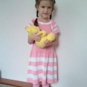 Летнее платье для юной леди (свяжу на заказ)