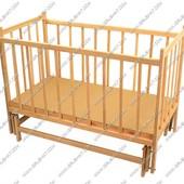 Кроватка деревянная с маятниковым механизмом №14