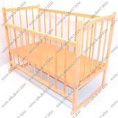 Деревянная кроватка с качалкой и опускающейся боковиной №3
