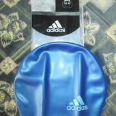 Шапочка для плавания  силиконовая E44342 чёрная/синяя.