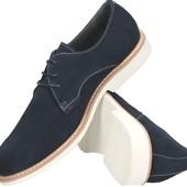 Синие мужские туфли кожа , Полдьша 43 р.р