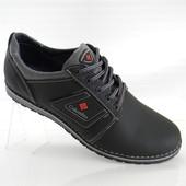 Columbia model №8 Кожаные мужские туфли  чёрно серые