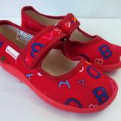 Детские тапочки для девочки Виталия (р. 25,5-27), код- Буквы красные