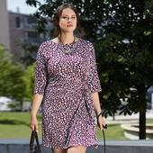 Стильное платье современного дизайна от Tchibo, тсм для пышной красоты