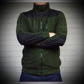 Мужская флисовая куртка цвета хаки 405