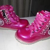 Ботинки демисезон на девочку, У-Тор, размеры 26-16.6 см