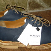 Туфли оксфорды  mango ,раз 40 по стельке 26.2см