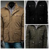 Демисезонная мужская куртка парка три цвета