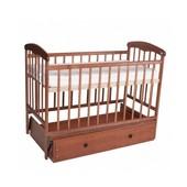 Детская кроватка Наталка,светлая, маятник, ящик