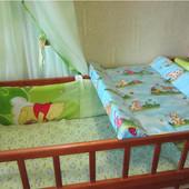 Пеленатор для детей на детскую кроватку с креплениями