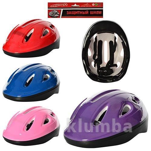 Шлем детский. Размер М. Защита при езде на беговелах, самокатах, роликах, велосипедах фото №1