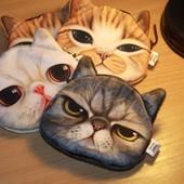 Кошелек/ключница/визитница с 3D рисунком кошка/кот/котик гаманець Miwo x-dolls