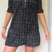 Bershka. Улётное платье с загибающимся подолом. Размер: 36 / 8 / S