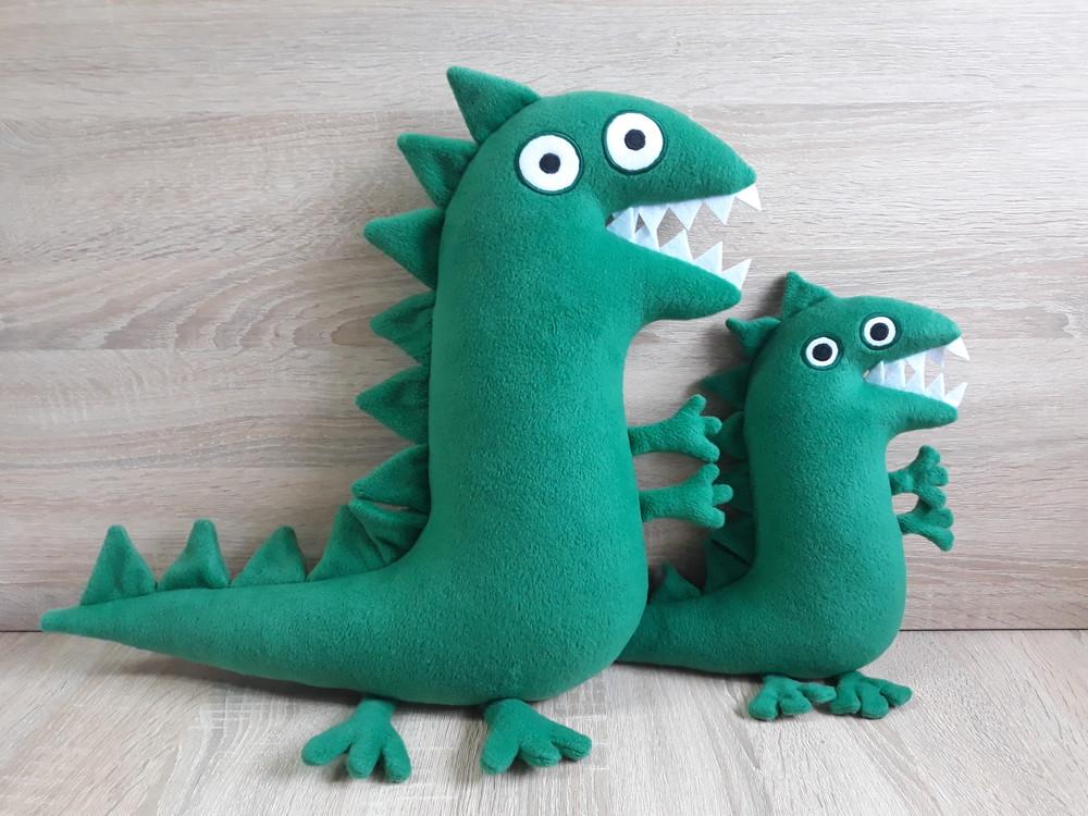 Мягкая игрушка динозавр поросенка джорджа ручная работа фото №1