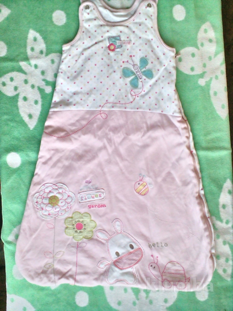 Теплый спальный мешок  Marks&Spencer для девочки  от 0 до 6 мес. фото №1