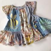 очень красивое платье-туника с пчелкой Некст р.86
