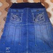 Джинсовая юбка для беременных из Израиля